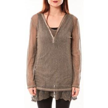 Clothing Women Tunics Tcqb Tunique Nuova Stella Marron Brown