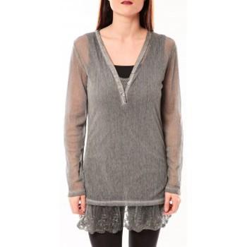 Clothing Women Tunics Tcqb Tunique Nuova Stella Gris Grey