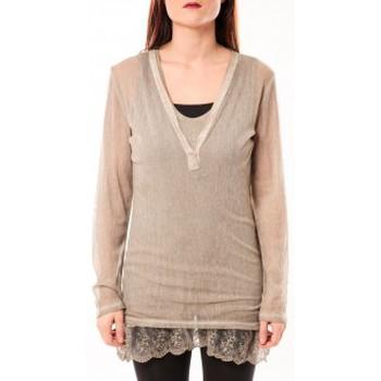 Clothing Women Tunics Tcqb Tunique Nuova Stella Beige Beige