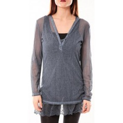 Clothing Women Tunics Tcqb Tunique Nuova Stella Bleu Blue