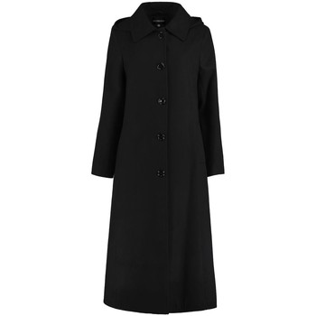 Clothing Women coats De La Creme Long Detachable Hooded Winter Coat Black