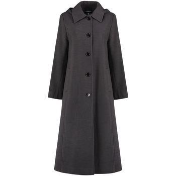 Clothing Women Coats De La Creme Long Detachable Hooded Winter Coat Grey