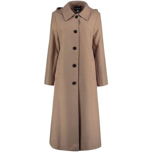 Clothing Women coats De La Creme -  Womens Camel Long Detachable Hooded Winter Coat BEIGE