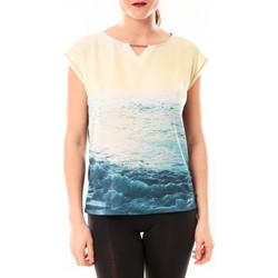 Clothing Women short-sleeved t-shirts Little Marcel Tee-shirt Trisi E15FTSS0333 Bleu Blue
