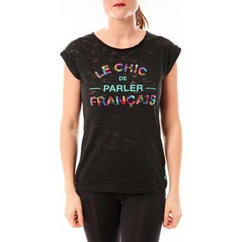 Clothing Women short-sleeved t-shirts Little Marcel Tee-shirt Tamia E15FTSS0124 Noir Black