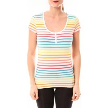 Clothing Women short-sleeved t-shirts Little Marcel Tee-shirt Tatoum Multi 318FB Blanc White