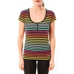 Clothing Women T-shirts & Polo shirts Little Marcel Tee-shirt Tatoum Multi 315FN Noir Black