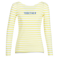 Clothing Women Long sleeved tee-shirts Marc O'Polo CARACOLI White / Yellow