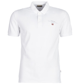 Clothing Men short-sleeved polo shirts Napapijri ELBAS 2 White