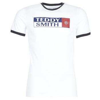 Clothing Men short-sleeved t-shirts Teddy Smith TOZO White