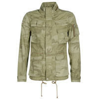 Clothing Men Jackets Schott CRAIG 19 Camo / Beige