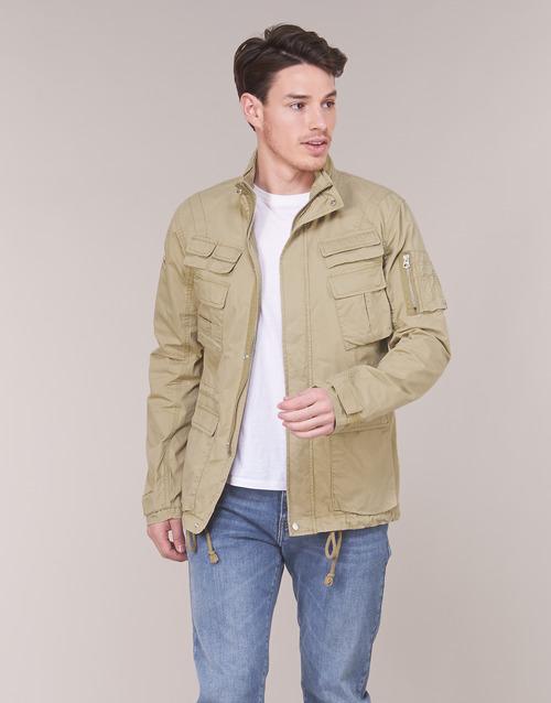 Clothing Men Jackets Schott CRAIG 19 Beige