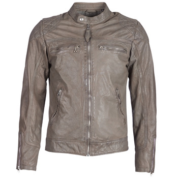 Clothing Men Leather jackets / Imitation leather Schott SPYDER Grey