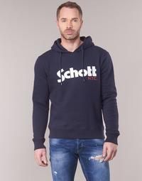 Clothing Men Sweaters Schott HOOD Marine