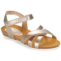Shoes Girl Sandals Kickers BOGART Bronze / Metal