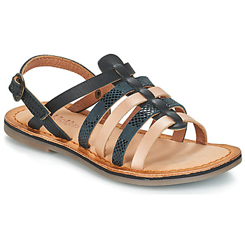 Shoes Girl Sandals Kickers DIXON Black / Serpent