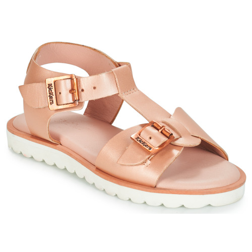Shoes Girl Sandals Kickers ISABELA Pink / Metal