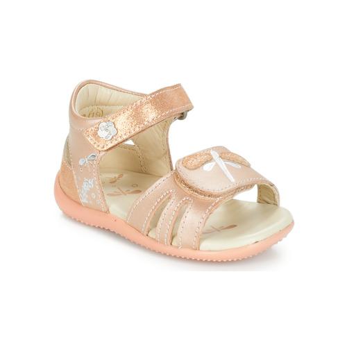 Shoes Girl Sandals Kickers BESHINE Pink / Metal