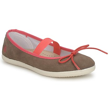 Shoes Girl Flat shoes Petit Bateau KITY KID KAKI