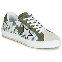 Shoes Women Low top trainers Mustang  Kaki / White