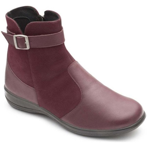 Shoes Women Boots Padders Mary Womens Leather Buckle Zip Dualfit Ankle Boots pink