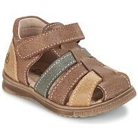 Shoes Boy Sandals Citrouille et Compagnie FRINOUI Brown / Multicolour