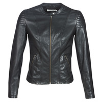 Clothing Women Leather jackets / Imitation leather Naf Naf CLIM Black