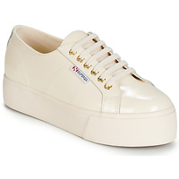 Shoes Women Low top trainers Superga 2790 LEAPATENT Ecru