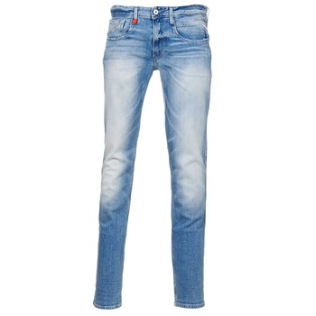 Clothing Men slim jeans Replay ANBAS Blue / Clear