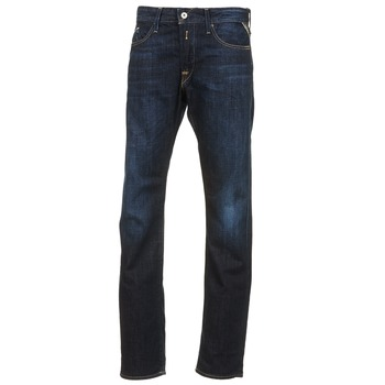 Clothing Men straight jeans Replay WAITON Blue / Dark
