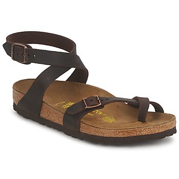 Shoes Women Sandals Birkenstock YARA Brown
