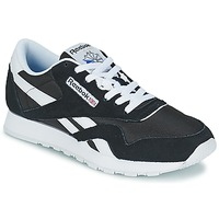 Shoes Men Low top trainers Reebok Classic CL NYLON Black / White