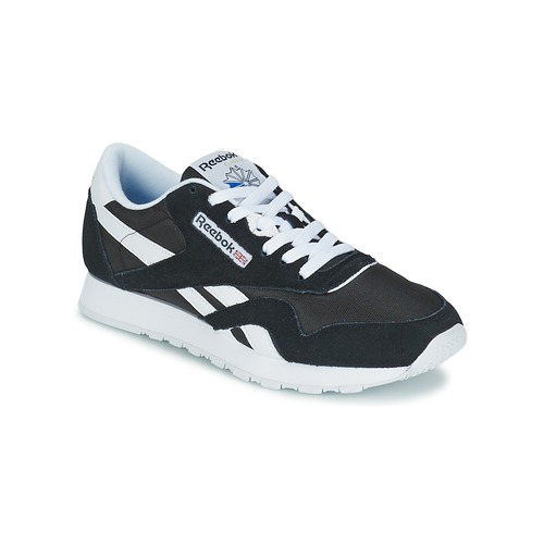 Shoes Low top trainers Reebok Classic CL NYLON Black / White