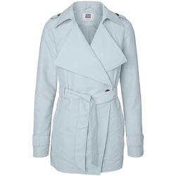 Clothing Women Trench coats Vero Moda - Baby Blue Score Cross Over Wrap Spring Trench Coat BLUE