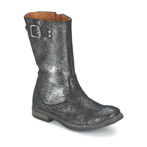 Shoes Girl High boots Shwik WACO BOTTE Black