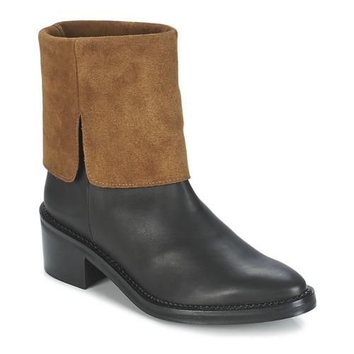 Shoes Women Mid boots Miista KAMILA Black / Brown