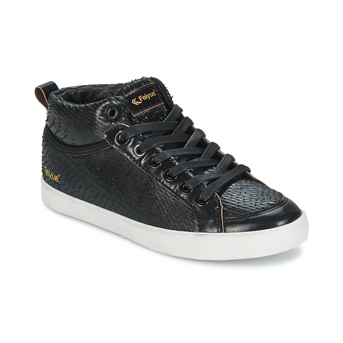Shoes Women Hi top trainers Feiyue DELTA MID DRAGON Black
