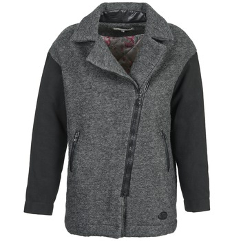 Clothing Women coats Banana Moon ARTHIS Black / Grey