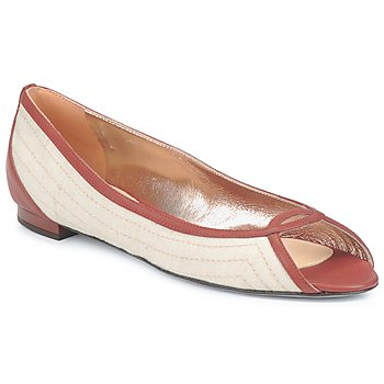 Shoes Women Flat shoes Azzaro JOUR Beige / Camel