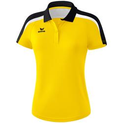 Clothing Women Short-sleeved polo shirts Erima Polo femme  Liga 2.0 jaune/noir/blanc