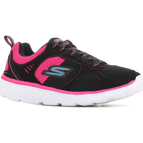 Shoes Children Low top trainers Skechers 81355L-BKHP black, pink