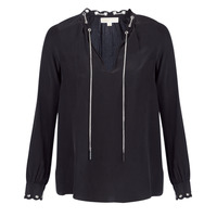 Clothing Women Tops / Blouses MICHAEL Michael Kors SCALLP GRMT CHAIN TOP Black