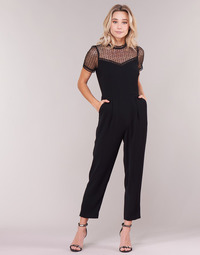 Clothing Women Jumpsuits / Dungarees MICHAEL Michael Kors LACE YOKE JUMPSUIT Black