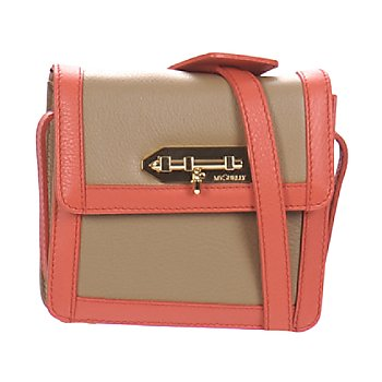 Bags Women Pouches / Clutches MySuelly LOLA Taupe / Coral