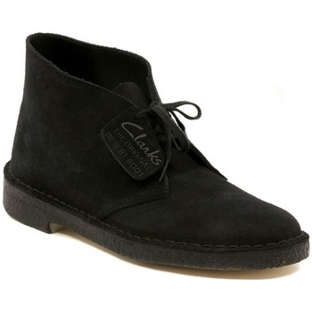 Shoes Mid boots Clarks DESERT BOOT NAVY SUEDE    157,5