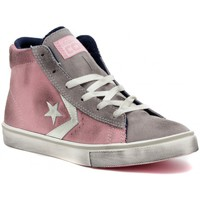 Shoes Girl Hi top trainers Converse PRO LEATHER VULC Multicolore