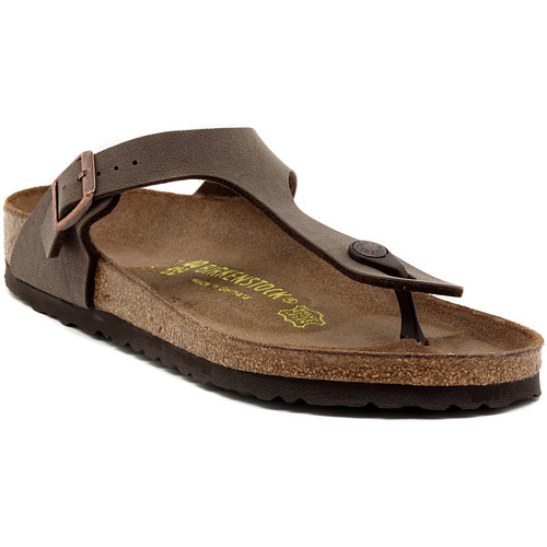 Shoes Women Flip flops Birkenstock GIZEH MOCCA Multicolore