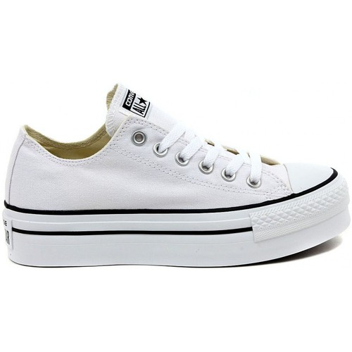 Shoes Women Low top trainers Converse ALL STAR  PLATFORM OX  WHITE    123,8