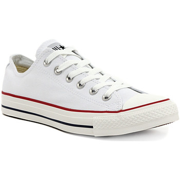 Converse  ALL STAR  OPTICAL WHITE OX  girlss Childrens Shoes (Trainers) in multicolour