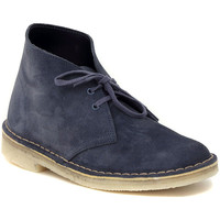 Mid boots Clarks DESERT BOOT BLUE SUEDE